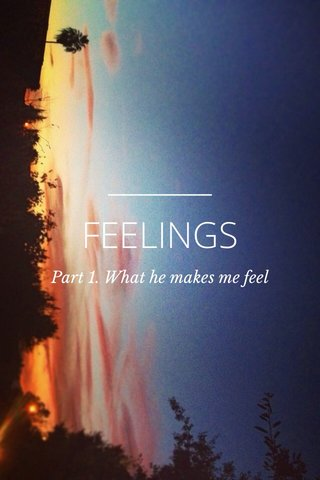 FEELINGS Part 1. What he makes me feel