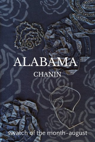 ALABAMA swatch of the month-august CHANIN