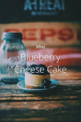 Blueberry Cheese Cake Mini