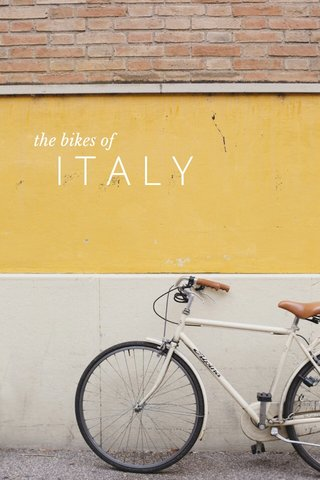ITALY the bikes of