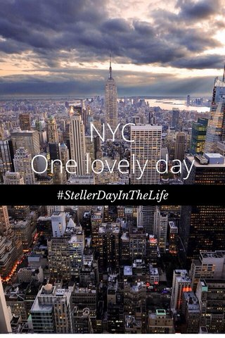NYC One lovely day #StellerDayInTheLife