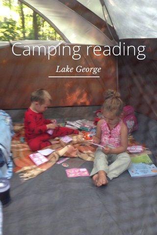 Camping reading Lake George