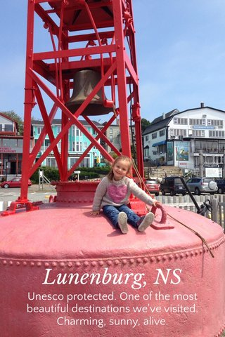 Lunenburg, NS Unesco protected. One of the most beautiful destinations we've visited. Charming, sunny, alive.