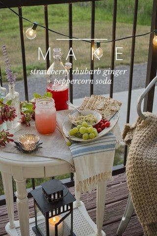 MAKE strawberry rhubarb ginger + peppercorn soda