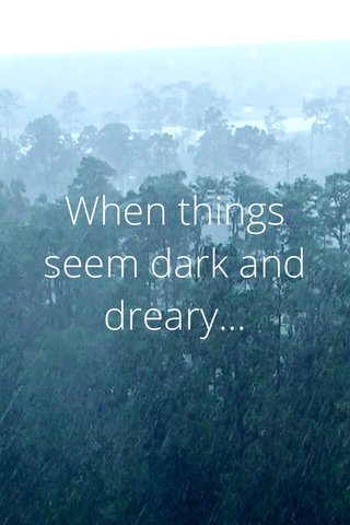 When things seem dark and dreary...