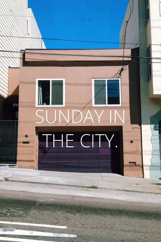 SUNDAY IN THE CITY.