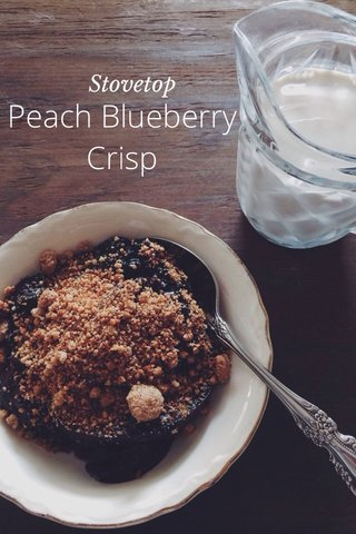 Peach Blueberry Crisp Stovetop