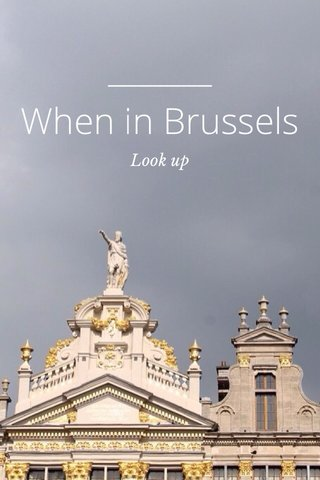 When in Brussels Look up