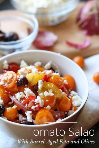 Tomato Salad With Barrel-Aged Feta and Olives