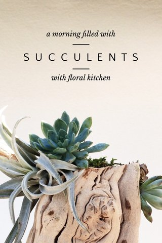 — — SUCCULENTS a morning filled with with floral kitchen