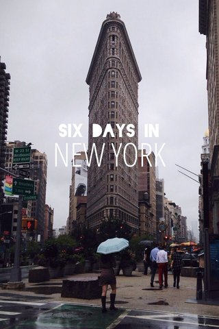 NEW YORK six days in
