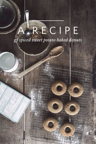A RECIPE gf spiced sweet potato baked donuts