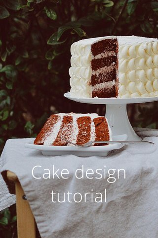 Cake design tutorial