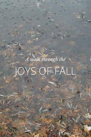 JOYS OF FALL A walk through the