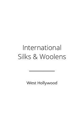 International Silks & Woolens West Hollywood