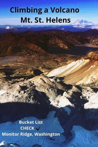 Climbing a Volcano Mt. St. Helens Bucket List CHECK ✔️ Monitor Ridge, Washington
