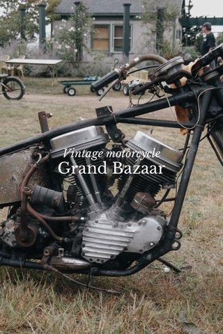 Grand Bazaar Vintage motorcycle