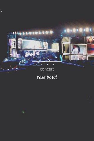 rose bowl concert