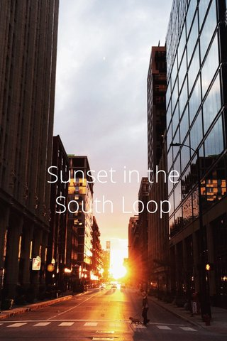 Sunset in the South Loop