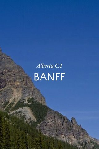BANFF Alberta,CA
