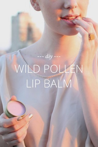 WILD POLLEN LIP BALM --- diy ---