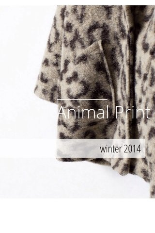 Animal Print winter 2014