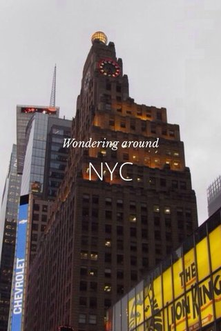 NYC Wondering around