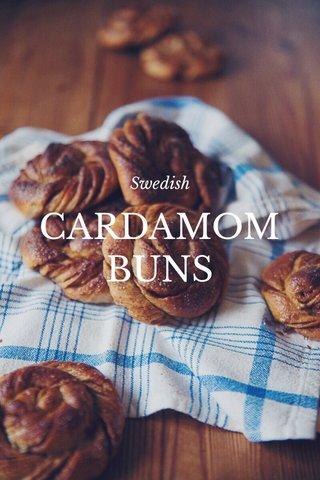 CARDAMOM BUNS Swedish