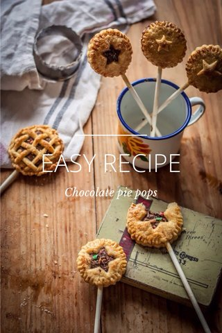 EASY RECIPE Chocolate pie pops