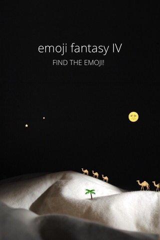 emoji fantasy IV FIND THE EMOJI!