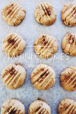 TAHINI COOKIES Gluten Free