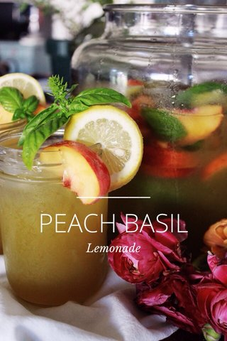 PEACH BASIL Lemonade