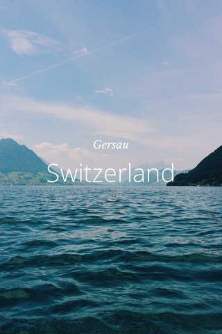 Switzerland Gersau