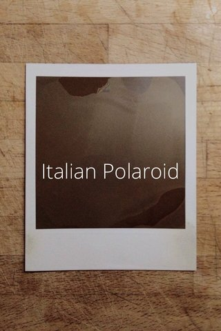 Italian Polaroid