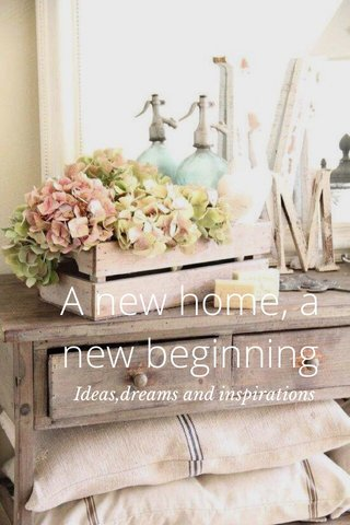 A new home, a new beginning Ideas,dreams and inspirations
