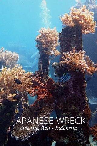 JAPANESE WRECK dive site, Bali - Indonesia