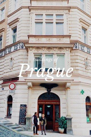 Prague buildings of