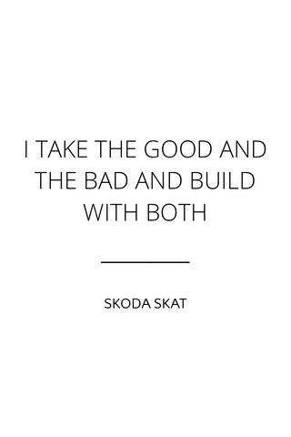 I TAKE THE GOOD AND THE BAD AND BUILD WITH BOTH SKODA SKAT