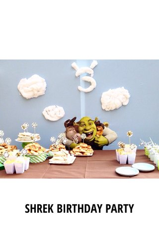 SHREK BIRTHDAY PARTY