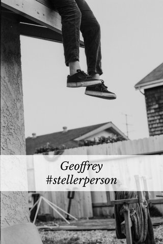 Geoffrey #stellerperson
