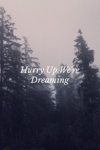 Hurry Up We're Dreaming
