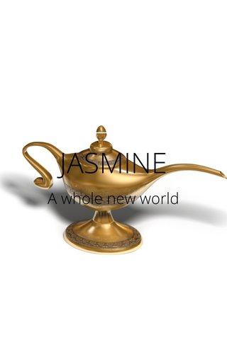 JASMINE A whole new world