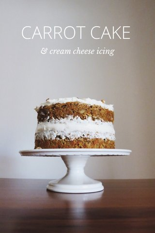 CARROT CAKE & cream cheese icing