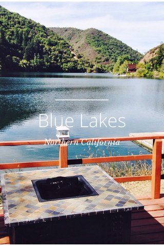 Blue Lakes Northern California