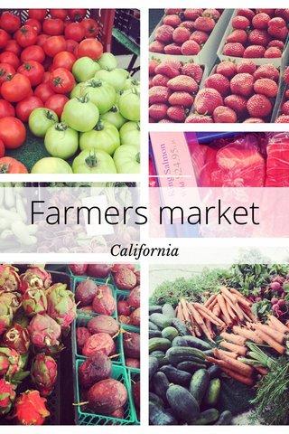 Farmers market California