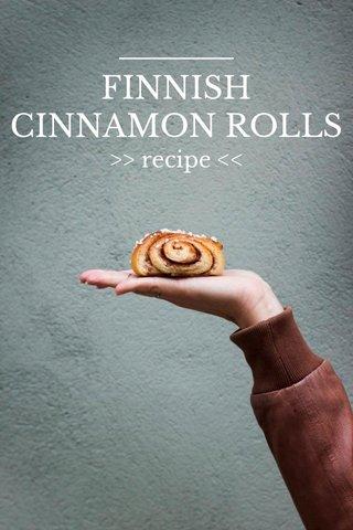 FINNISH CINNAMON ROLLS >> recipe <<