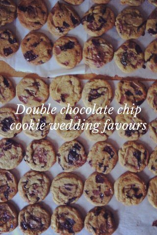 Double chocolate chip cookie wedding favours
