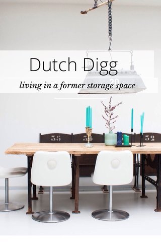 Dutch Digg living in a former storage space