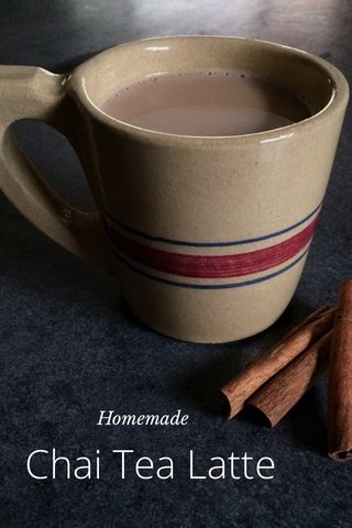 Chai Tea Latte Homemade