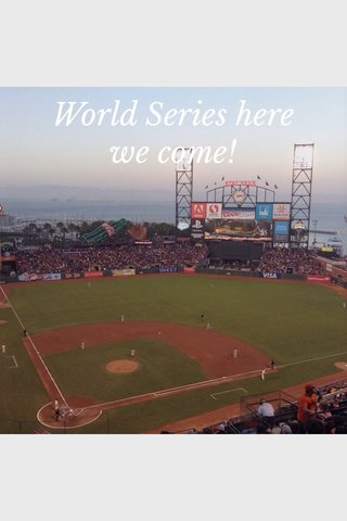 World Series here we come!